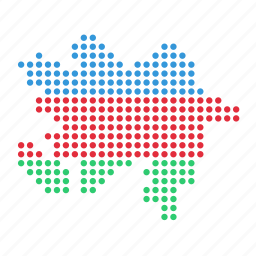 azerbaijan, country, location, map icon