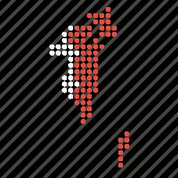 bahrain, bahraini, country, location, map icon