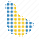 barbados, country, location, map icon
