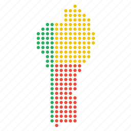 benin, beninese, country, location, map icon