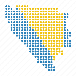 bosnia, country, herzegovina, location, map icon