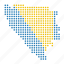 bosnia, country, herzegovina, location, map icon