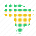 brazil, brazilian, country, location, map icon