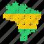 brazil, brazilian, country, location, map icon