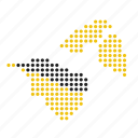 brunei, country, location, map icon