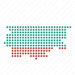 bulgaria, bulgarian, country, location, map icon