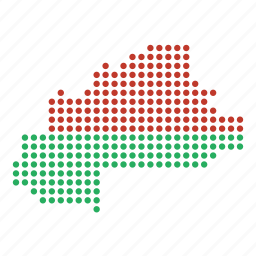 burkina, country, faso, location, map icon