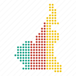cameroon, cameroonian, country, location, map icon