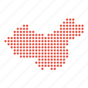 china, chinese, country, location, map icon