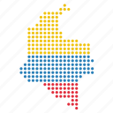 colombia, colombian, country, location, map icon