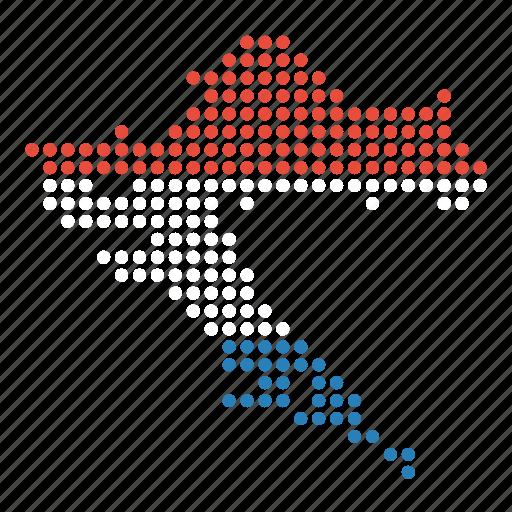 country, croatia, croatian, location, map icon