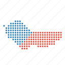 country, czech, location, map, republic icon