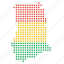 country, ghana, ghanaian, location, map icon