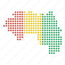 country, guinea, guinean, location, map icon