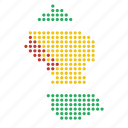 country, guyana, guyanese, location, map icon