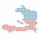haiti, map, location, country
