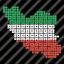 iran, map, location, country, iranian icon