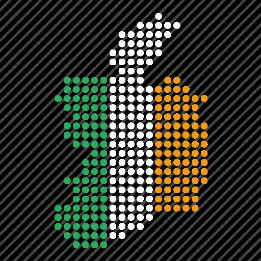 country, ireland, irish, location, map icon