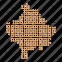 country, kosovan, kosovo, location, map icon