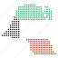 country, kuwait, location, map icon