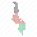 country, location, malawi, malawian, map icon