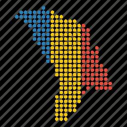 country, location, map, moldova, moldovan icon