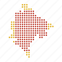 country, location, map, monte, negro icon
