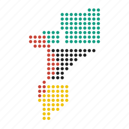 country, location, map, mozambique icon