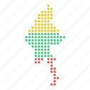burma, burmese, country, location, map, myanmar icon