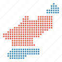 country, korea, korean, map, north icon