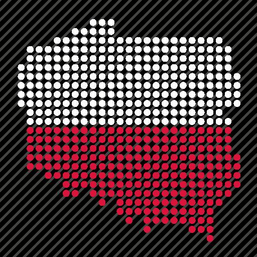country, location, map, poland, polish icon