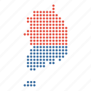 country, korea, korean, location, map, south icon