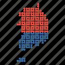 korea, map, south, location, country, korean