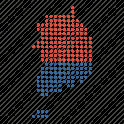 country, korea, korean, location, map, south icon