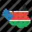 location, map, south, sudan, sudanese icon