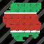 country, location, map, suriname, surinamese icon