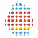country, location, map, swaziland icon