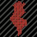 country, location, map, tunisia, tunisian icon