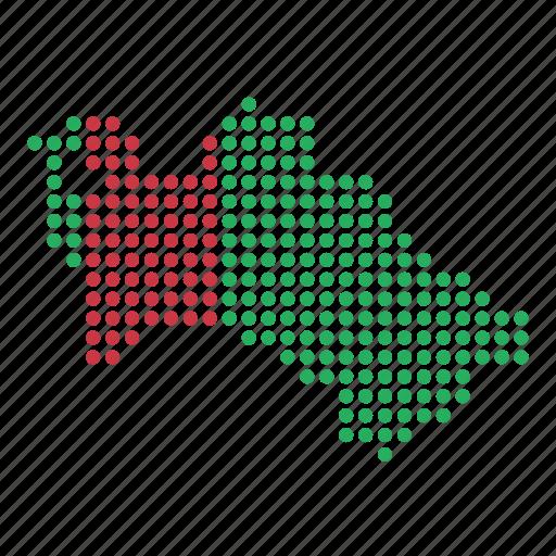 country, location, map, turkmenistan, turkmenistani icon
