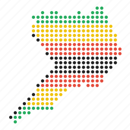 country, location, map, uganda, ugandan icon