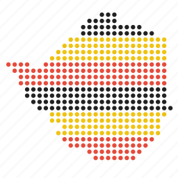 country, location, map, zimbabwe, zimbabwean icon