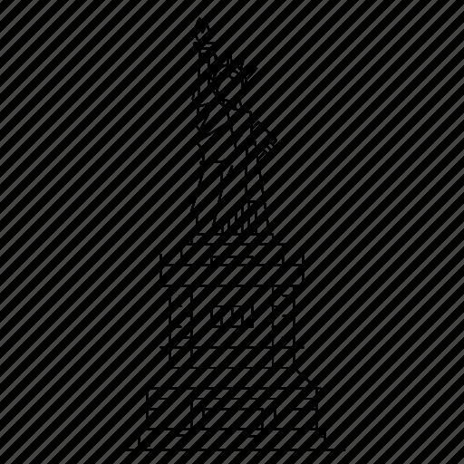 architecture, landmark, liberty, monument, statue icon