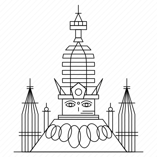 architecture, landmark, monument, swayambhunath icon