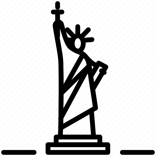 american, freedom, landmark, liberty, monument, statue, usa icon icon