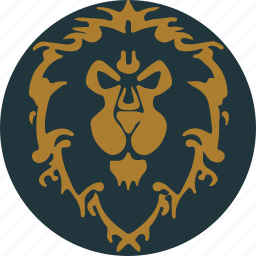 alliance, faction, flag, game, honor, warcraft, wow icon