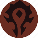 faction, flag, game, honor, horde, warcraft, wow icon