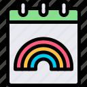calendar, campaign, carnaval, lgbtq icon