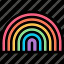 campaign, carnaval, lgbtq, rainbow icon