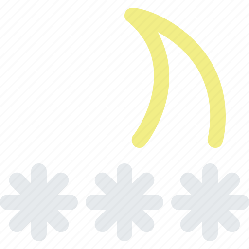 blizzard, frost, frozen, moon, night, snow, storm, weather icon