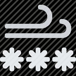 blizzard, breeze, breezy, frost, frozen, snow, storm, weather, wind, windy icon